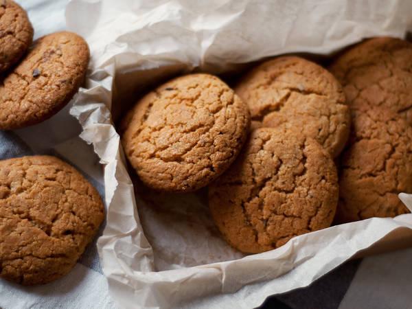 Кокосово-арахисовое печенье с шоколадом #кулинарныймарафон