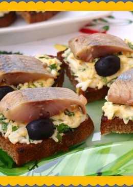 Гренки с селёдочкой - Вкуснейшая закуска для Новогоднего стола