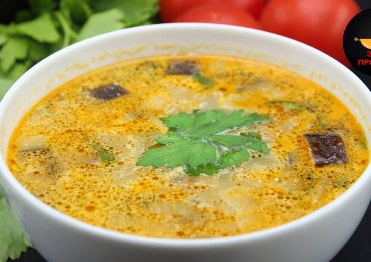 Суп с баклажанами в мультиварке ♨