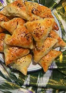 •Слоёная узбекская ферганская самса в домашних условиях
