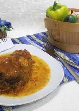 Толстолобик тушеный в томатном соусе по-новогоднему