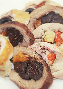 Рулетики мясные с разной начинкой - Холодные закуски на праздничный стол