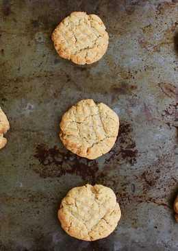 Постные печенья с арахисовой пастой