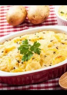 Новогодний гарнир - Картофель запеченный в сливках с сыром