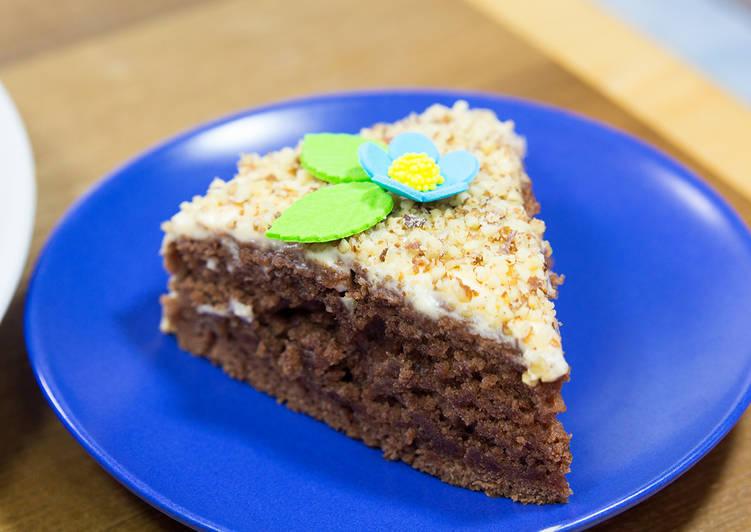 Моментальный шоколадный пирог на воде без яиц