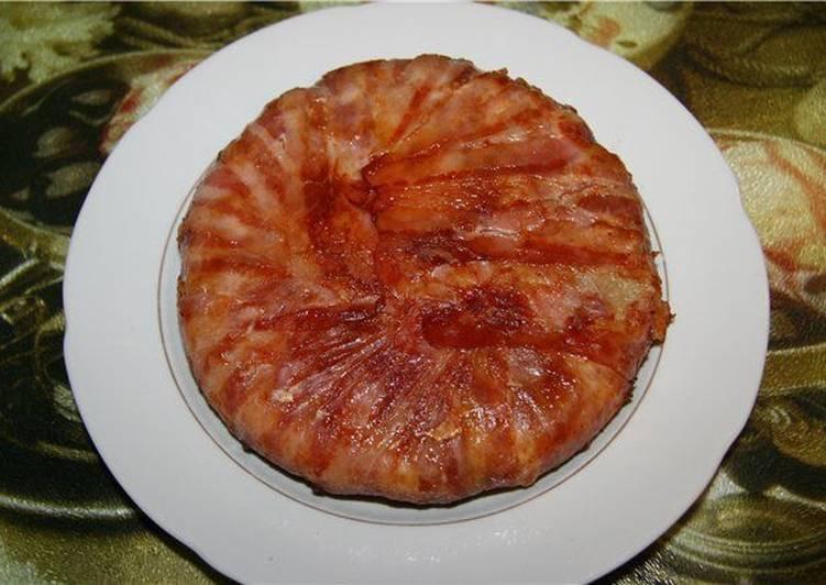 Беконово-картофельный пирог с сыром