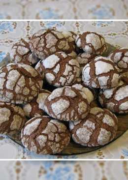 Шоколадное печенье с кракелюрами (Треснутое печенье)