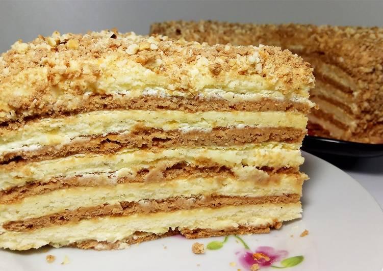 рецепт торт на сковороде на скорую руку