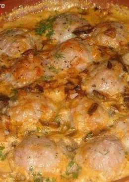Мясные тефтельки в томатно-грибном соусе