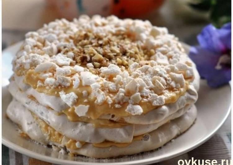 миндальное пирожное с заварным кремом рецепт