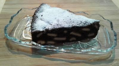 Шоколадная шарлотка за 5 минут #пп