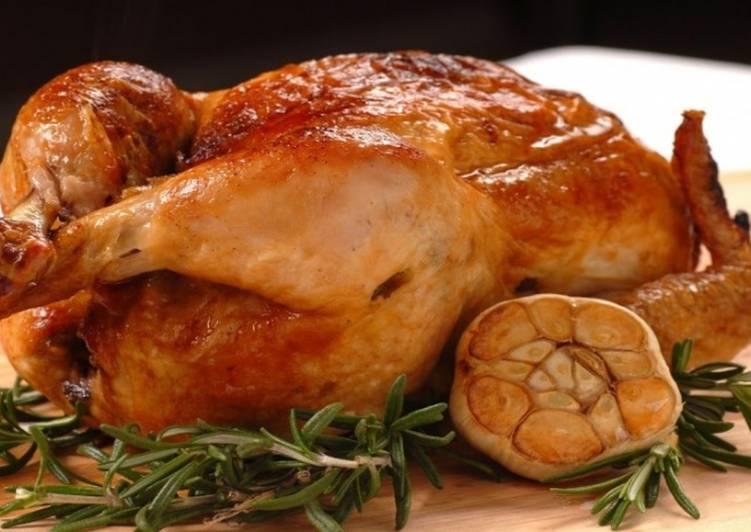 Курица в рукаве в духовке