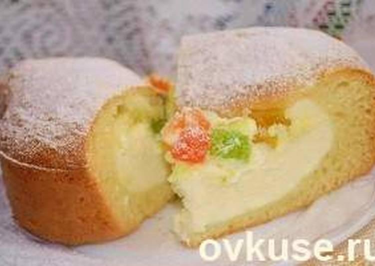 Пирог с творожной начинкой и цукатами
