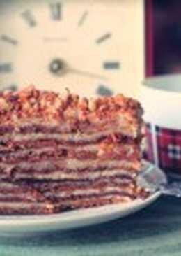 Торт «Бабушкин Рыжик» с заварным кремом