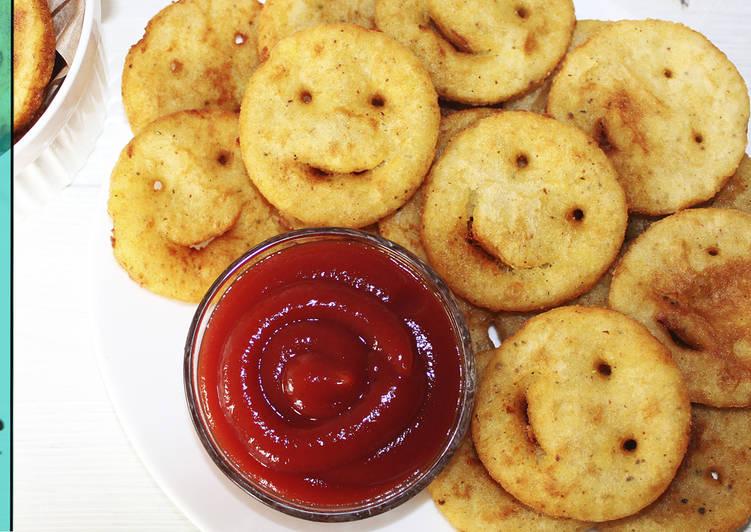 Картофельные смайлики - Хрустящая Закуска - Рецепты nk cooking