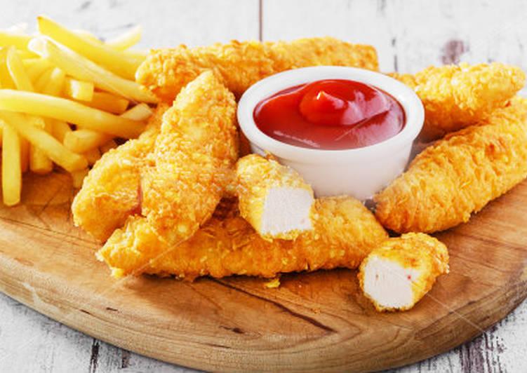 Куриное филе в кляре - Золотые пальчики рецепт