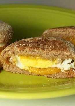 Милашки-бургеры с яичницей и сыром