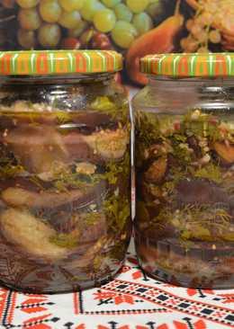 Баклажаны на зиму, жаренные с лимоном и зеленью