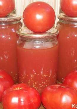 Томатный сок на зиму. Рецепт томатного сока