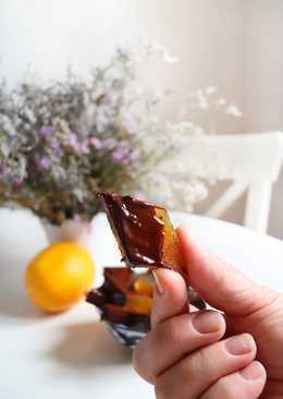 Новогодний, Сводящий с ума апельсиновый мармелад в горьком шоколаде