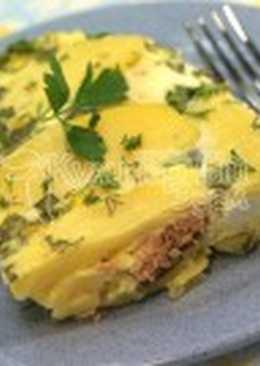 Горбуша запеченная с яйцами и картофелем