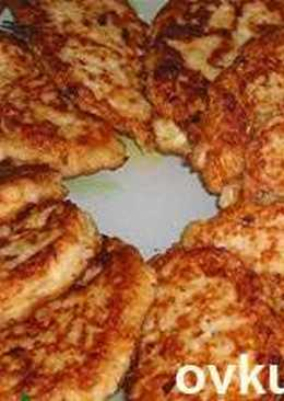 Капустные оладьи (постное блюдо)