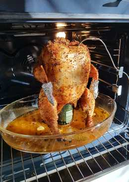 Курица на банке пива в духовке. Сооочное мясо!