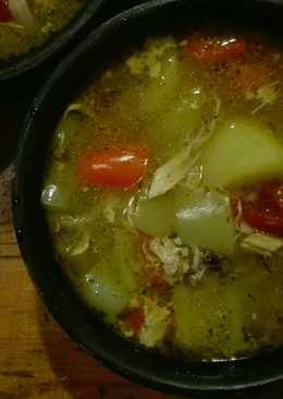 Похлебка на курином бульоне с овощами