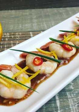 Креветки в апельсиновом соусе (диетическое блюдо)
