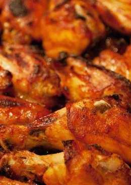 Новогодние куриные крылышки под медовым соусом