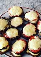 Запеченые бутерброды с баклажанами, томатами и сыром