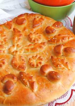 Пирог с картофелем и шампиньонами
