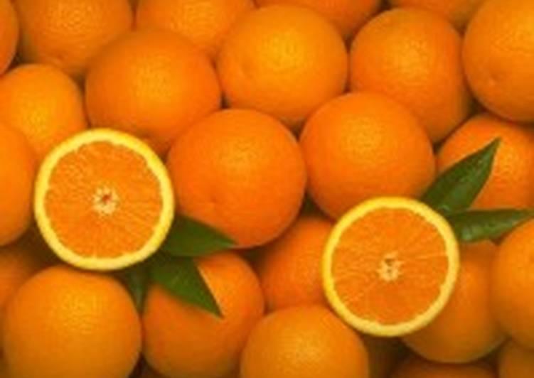 Апельсиновый компот с черникой