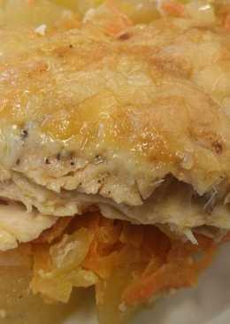 Запеканка из курицы с картошкой
