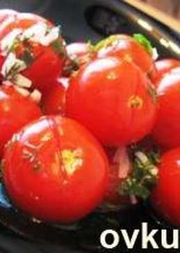 Маринованные помидорчики на скорую руку