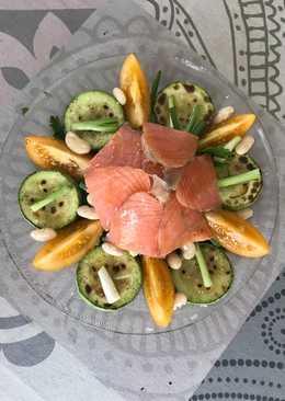 Тёплый салат с сёмгой #кулинарныймарафон