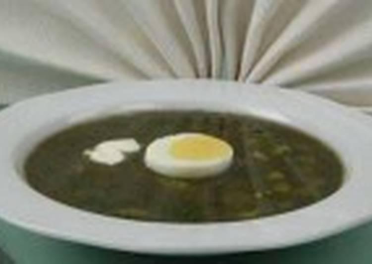 Щи зеленые с яйцом холодные (2)