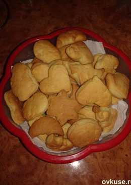 Песочное печенье на домашней сметане
