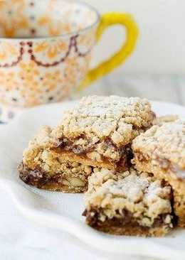 Кармелитас - шоколадно-овсяное печенье с орехами