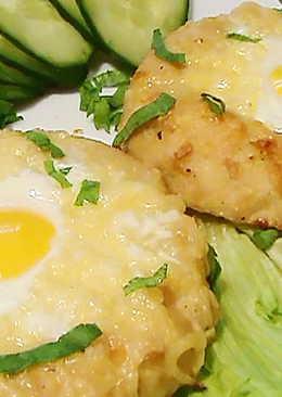 Шницель с яйцом