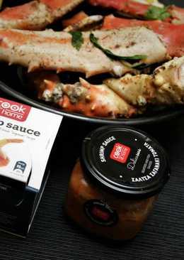 Краб камчатский с соусом для морепродуктов