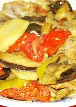 Баклажаны с жареным мясом и эстрагоном