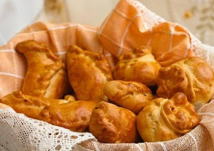Пирожки по-польски с капустой и мясом