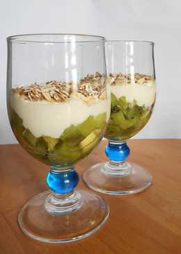 Десерт из киви и домашнего творога