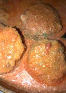 Мясные тефтели в томатно-сметанном соусе