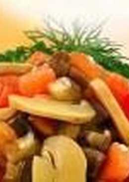 Закуска «шампиньоны с овощами»