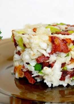 Салат с редькой и колбасой