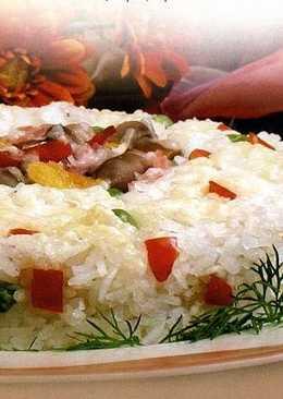 Рагу с сыром и рисом