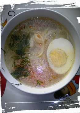 Суп - лапша с курицей