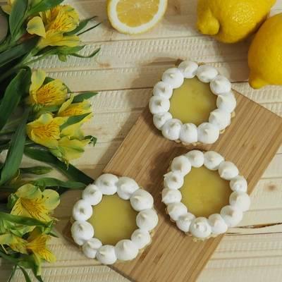 Лимонные тарталетки с меренгой (безе)